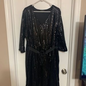 Sequins black party dress!